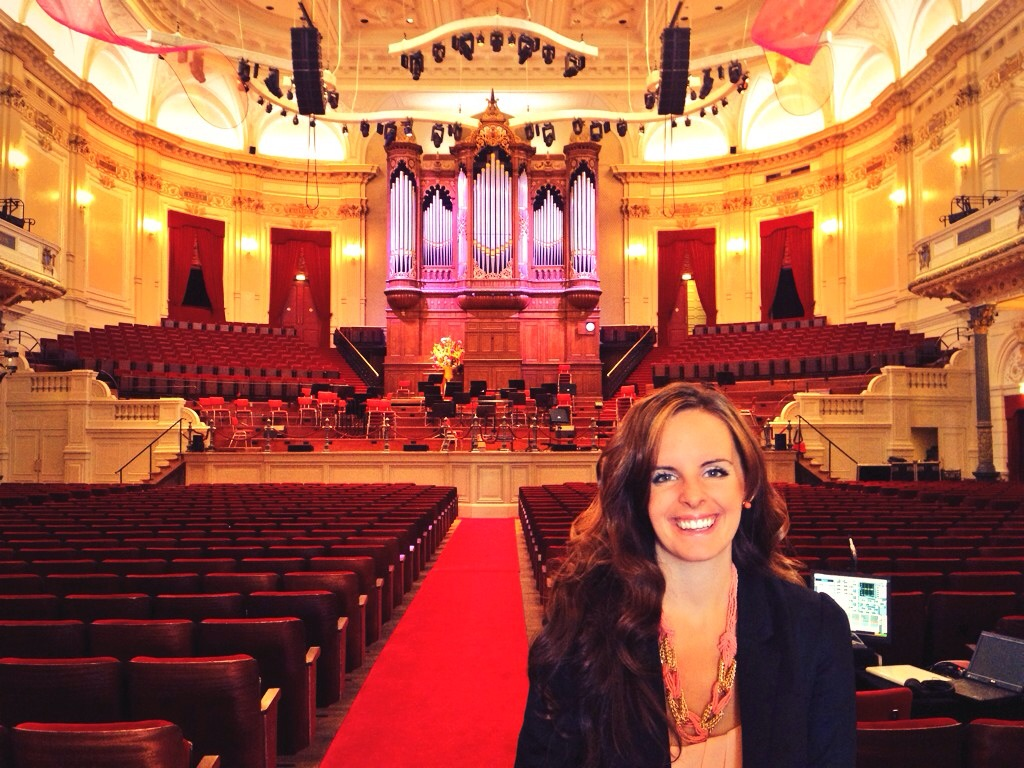 My first time singing in the Concertgebouw!